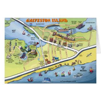 Carte de bande dessinée de Galveston le Texas