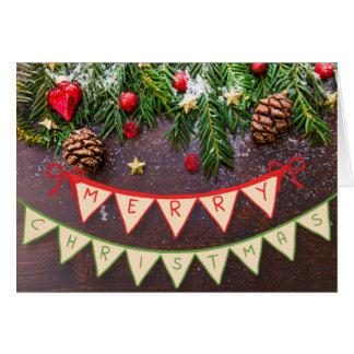 Carte de bannière de Joyeux Noël