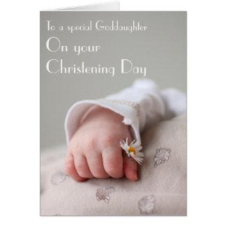 Carte de baptême de parrain à la filleule