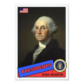 Carte de base-ball de George Washington Carton D'invitation 8,89 Cm X 12,70 Cm