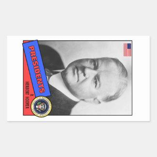Carte de base-ball de Herbert Hoover Stickers En Rectangle