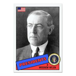 Carte de base-ball de Woodrow Wilson Carton D'invitation 8,89 Cm X 12,70 Cm