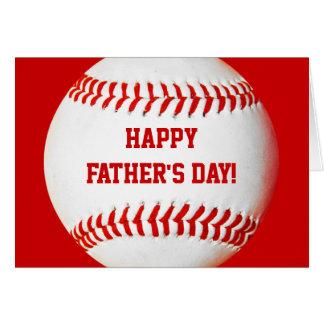 Carte de base-ball heureuse de fête des pères