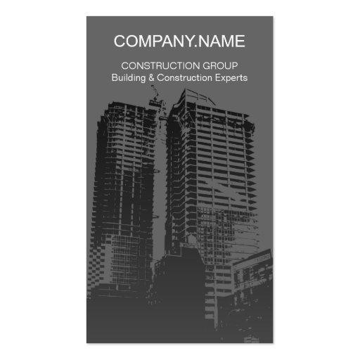 Carte de b timent et d 39 entreprise de construction cartes for Carte visite construction