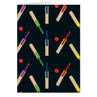 Carte de battes et de boules de cricket