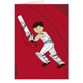 Carte de batteur de cricket