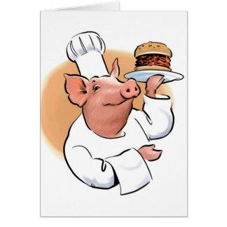 Carte de BBQ de porc