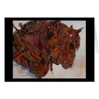 Carte de beaux-arts de cheval de trait de