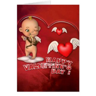 Carte de bébé de Toon de Saint Valentin