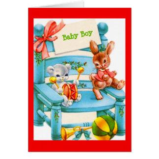 Carte de bébé pour le baby shower ou le nouveau