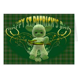 Carte de bénédiction du jour de St Patrick,