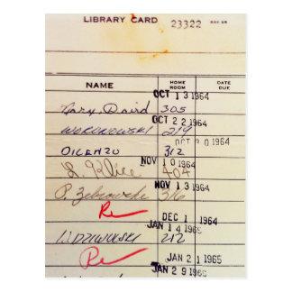 Carte de bibliothèque 23322