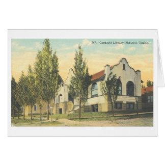 Carte de bibliothèque de Moscou Idaho Carnegie