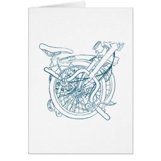Carte de bicyclette de Brompton