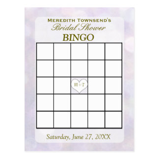 Carte de bingo-test de Bokeh | de lavande
