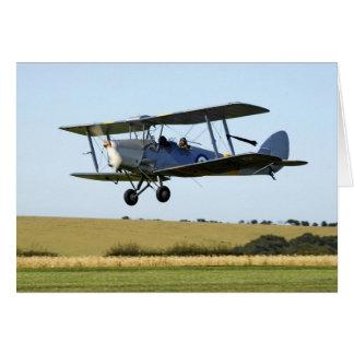Carte de biplan de Havilland Tigermoth