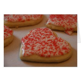 Carte de biscuit de sucre de coeur