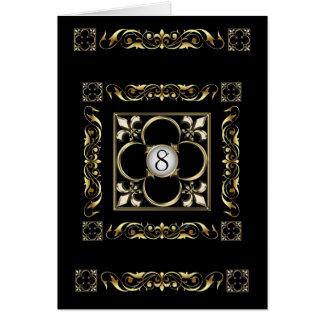 Carte de Black Fleur De Lis Table d'empereur