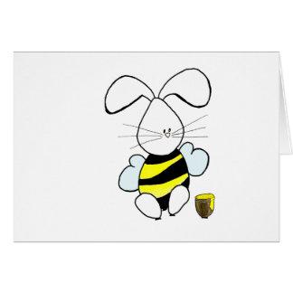 Carte de Blak de lapin de miel