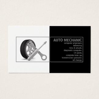 Carte de blanc de noir de service de mécanicien