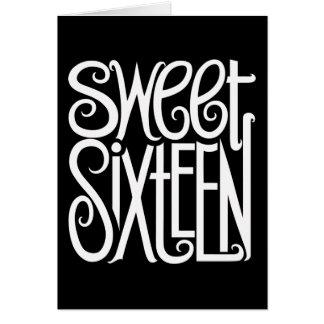 Carte de blanc de sweet sixteen