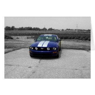 Carte de bleu de voiture de muscle d'anniversaire