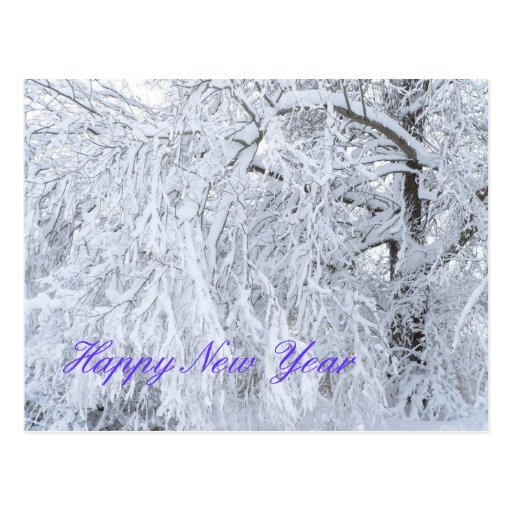Carte de bonne année carte postale