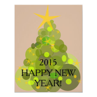 Carte de bonne année carton d'invitation 10,79 cm x 13,97 cm