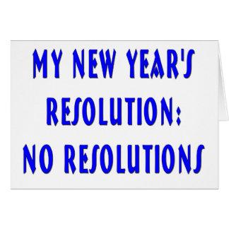 Carte de bonne année de résolutions de NY