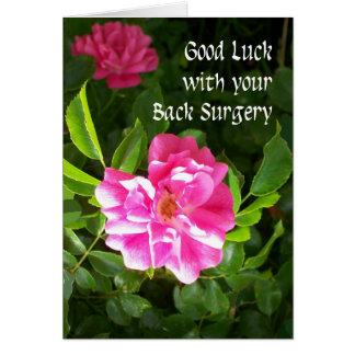 Carte de bonne chance de chirurgie du dos