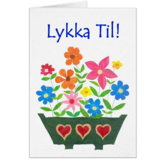 Carte de bonne chance, salutation norvégienne -