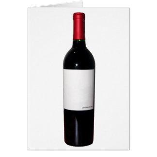 Carte de bouteille de vin (étiquette vide)