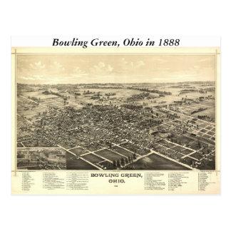 Carte de Bowling Green Ohio 1888