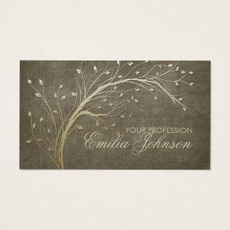 Carte de branche d'arbre d'or de jardinier de