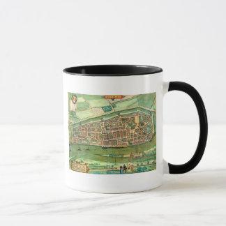 """Carte de Brême, de """"Civitates Orbis Terrarum"""" par Mug"""