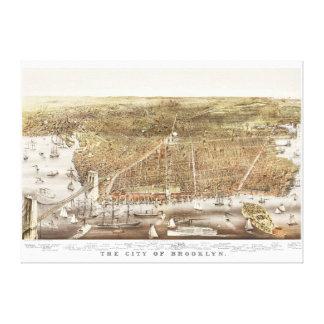 Carte de Brooklyn NY à partir de 1879 Toile