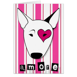 Carte de bull-terrier d'Amore