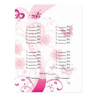 Carte de Bunco de papillon/carte postale roses de