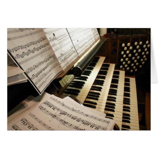 carte de bureau de musique d 39 orgue. Black Bedroom Furniture Sets. Home Design Ideas