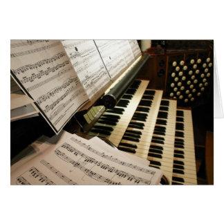 Carte de bureau de musique d'orgue