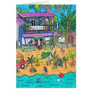 Carte de bureau de parc marin