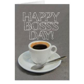 Carte de café du jour du patron