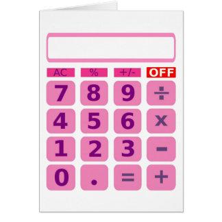Carte de calculatrice