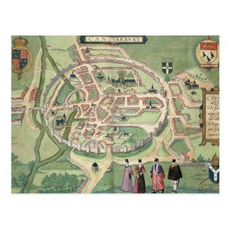 Carte de Cantorbéry, de 'Civitates Orbis Terrarum