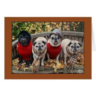 Carte de carlin de feuille d'automne