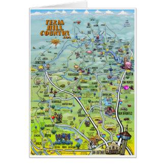 Carte de carte de bande dessinée de pays de
