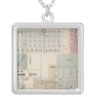 Carte de carte de ville de Winnebago de la terre b Pendentif Carré