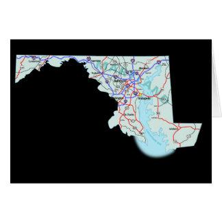 Carte de carte du Maryland