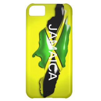Carte de cas de jaune de la Jamaïque Coque iPhone 5C