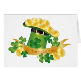 Carte de casquette de lutin de St Patricks